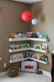 Corner shelves are a fantastic way to maximize small spaces and create a  dedicated play area