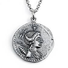 sterling silver necklace replica a postumius albinus ancient roman coin save loading zoom