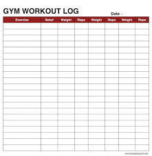 Workout Log Book Sheet Excel Example Spreadsheet Templates In