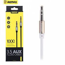Кабель <b>Remax 3.5 AUX</b> Audio Cable RL-L100 1м, белый - купить в ...