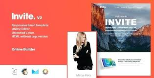 Online Email Invitations Invite Responsive Email Template Online