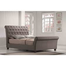 tufted upholstered sleigh bed. Unique Sleigh Emerald Home Linen Tufted Upholstered Sleighbed And Sleigh Bed