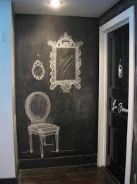 chalkboard paint in the entryway