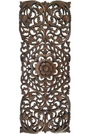 carved wood wall panel asian wall art