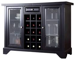 crosley lafayette sliding top bar cabinet transitional wine
