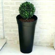 tall black plant pots polyethylene planter large indoor plastic outdoor planters square o