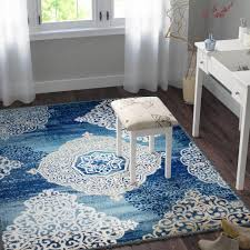 winston porter anita medallion navy blue area rug reviews wayfair in navy blue area