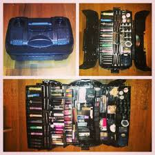 makeup kit box walmart. $23 tackle box from walmart spray painted black for a makeup case! tons of compartments kit 1