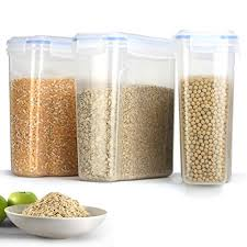 dry food storage containers. Duramont Cereal \u0026 Dry Food Storage Container Set Of 3 (16.9 Cup 135.2oz) Containers A
