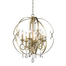 golden lighting 1323 6 wg ella 6 light chandelier in white gold with multi