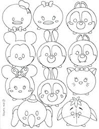 New Tsum Tsum Coloring Pages And Coloring Pages 87 Mickey Mouse Tsum