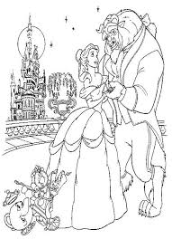 Small Picture Beautiful Beauty And The Beast Coloring Pages 62 About Remodel