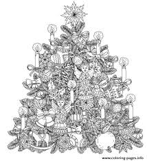 Christmas Tree Colouring Pages For Adults With Clipart Coloring Page