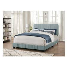 Pulaski Furniture All-in-One Blue King Bed with Channeled Headboard ...