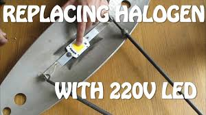 replacing halogen with led lights החלפת הלוגן בלד