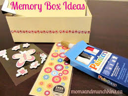 Memory Box Decorating Ideas Memory Box Ideas for Kids Moms Munchkins 3