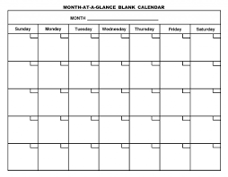 Blank Calendar Print – Printable Editable Blank