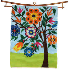 forest flowers wall hanging