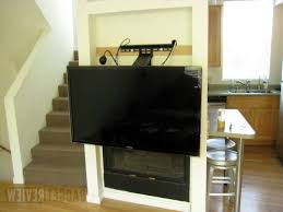 Superb Pull Down Tv Mount Over Fireplace Review Regarding Best Dynamic Mounting And Out Flatscreen