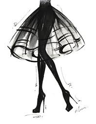 Fashion Illustration Print Lbd 8x10 Style Fashion Sketches