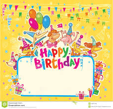 free happy birthday template happy birthday card stock illustration illustration of cute 49651284