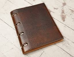 hand grained hand colored expresso presentation binder 2