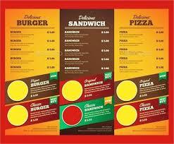 Restaurant Brochure Templates Colorful Restaurant Brochure
