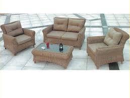 khaki color outdoor rattan sofa set