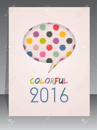 2016 Agenda Cover Design With Speech Bubble