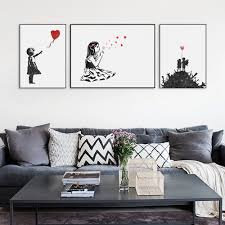 modern abstrcat black white banksy hipster pop a4 art print poster wall picture living room