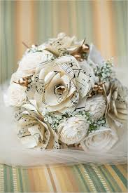 Paper Flower Bouquet For Wedding Music Loving New Orleans Wedding Wedding Bouquets