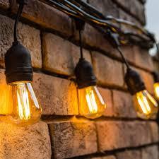 Black Outdoor String Lights Us 32 79 5 Off Black Waterproof Outdoor String Lights With Hanging Sockets Decoration Cafe Vintage Bistro Patio Garden Porch Backyard No Bulbs In