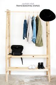 Free Standing Coat Rack With Shelf Your Wardrobe In Check With Freestanding Clothing Racks 40
