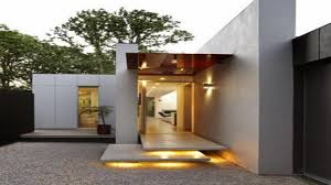 contemporary single story house small modern one story house plans small
