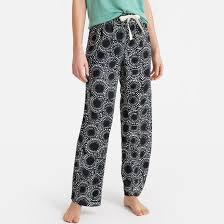 Брюки пижамные с рисунком, 100% вискоза черный/ наб ...