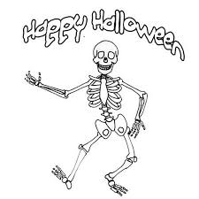 Small Picture Halloween Skeleton Coloring Pages Miakenasnet