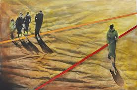 saatchi art artist susana rodriguez painting people walking on the sand
