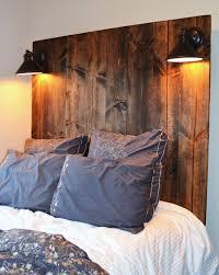 headboard lighting. rustic vertical grain headboard with lighting by knotsandbiscuits 15000 o