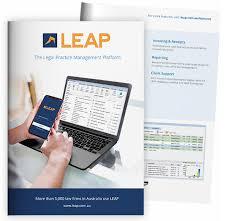 Download Brochure Leap Legal Software