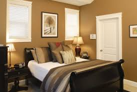 f contemporary small bedroom ideas with brown paint color wall schemes and black high gloss finish mahogany platform beds which has thick padded foam awesome black painted mahogany