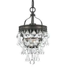 bronze one light mini pendant with clear crystal chandelier mill mason crystal mini pendant fashion style chandeliers pendants lights