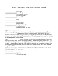 Best Solutions of Event Planning Cover Letter Samples For Sample ...