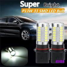 [COD]<b>2Pcs</b> Xenon White High Power <b>P13W LED Bulbs</b> For Daytime ...