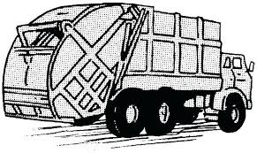 Dump Truck Coloring Pages Trash Truck Coloring Pages Driving Garbage