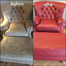 red leather chair wine leather chair and ottoman dye with before and after pictures red leather
