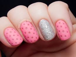 Pink Perforated Leather & Diamonds | Chalkboard Nails | Nail Art Blog
