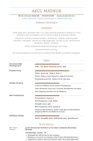 Junior Enterprise Architect & Full Stack Software Developer, Remote Resume  samples