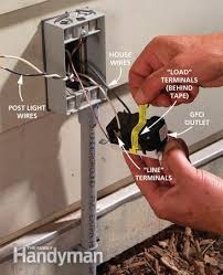 how to install outdoor lighting and outlet the family handyman photo 13 connect to the gfci outlet