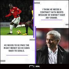 I love it, i'm italian. Boots To Blame For Lukaku Struggles Man Utd Boss Mourinho Jokes Striker Needs New Deal Football News