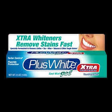 Plus White Toothpaste <b>Xtra Whitening</b> GEL Cool MINT 3.5 Oz 100 G ...